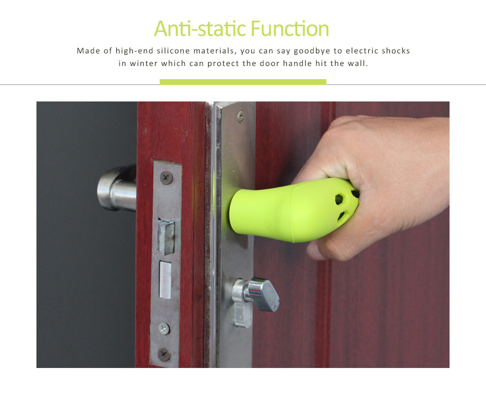 Silicone Door Handle with Hollow Out Design, Anti-collision Protective Cover for Children's Safety, Door Knob Protector 6