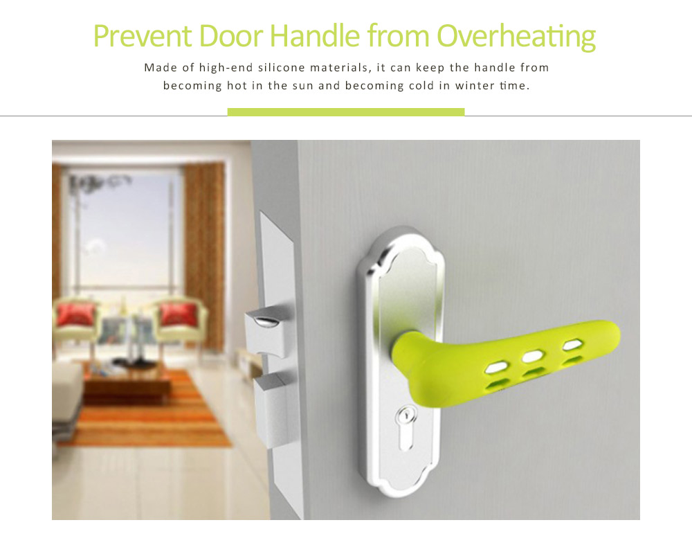 Silicone Door Handle with Hollow Out Design, Anti-collision Protective Cover for Children's Safety, Door Knob Protector 4