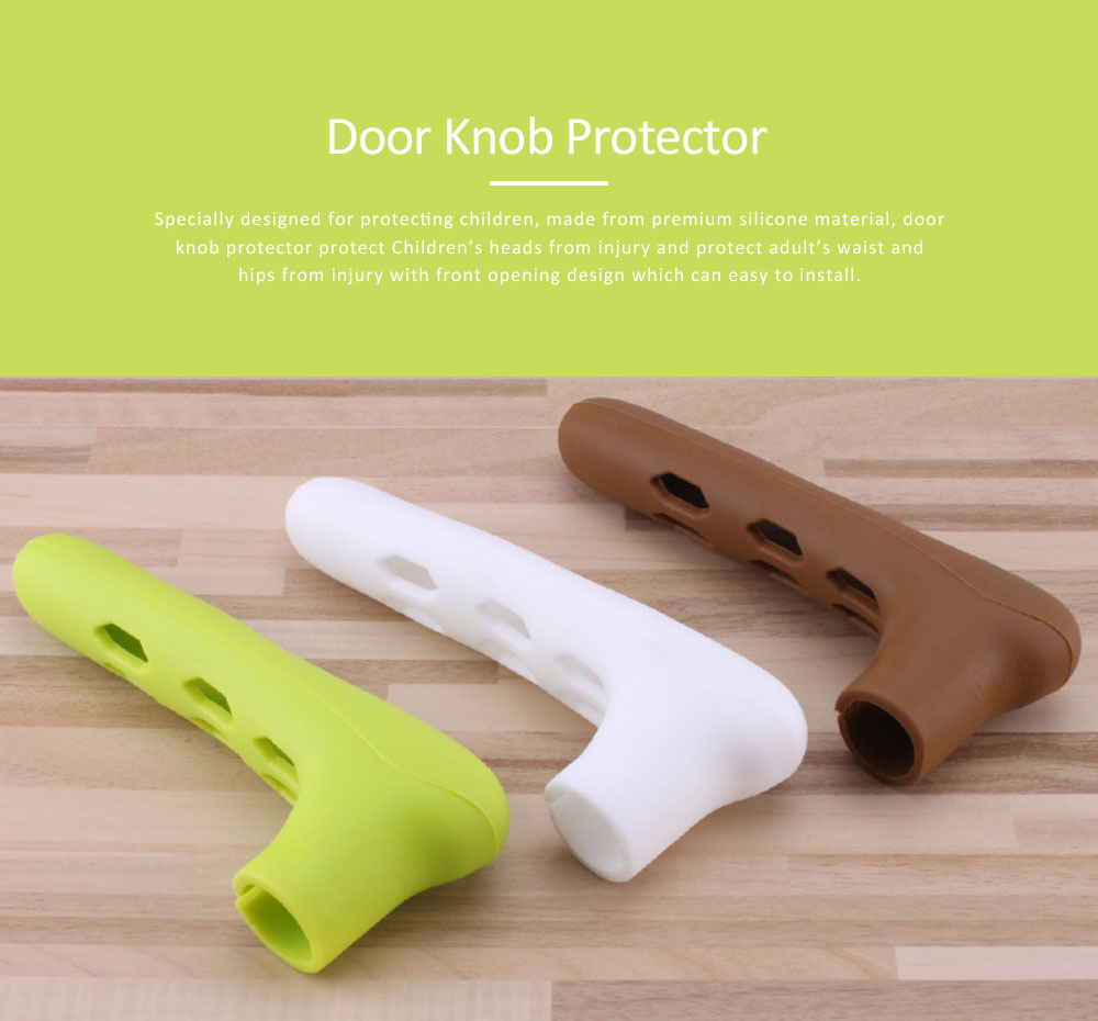 Silicone Door Handle with Hollow Out Design, Anti-collision Protective Cover for Children's Safety, Door Knob Protector 0