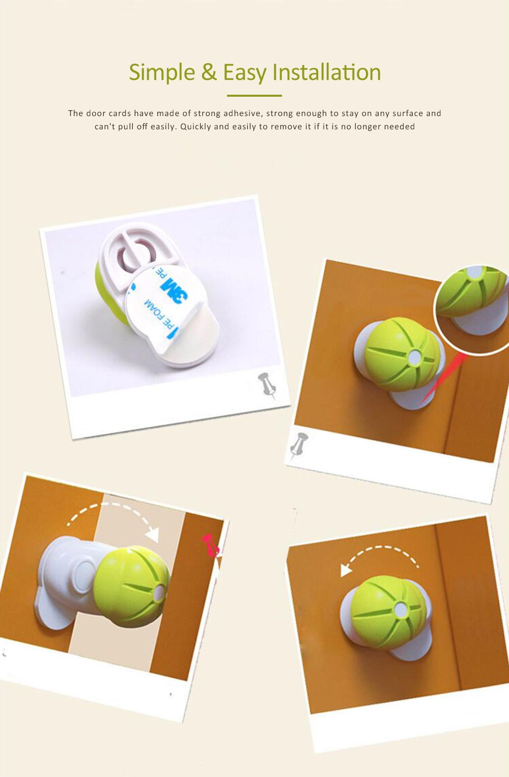 Silicone Door Stop Bumper, Door Cards with Baseball Design, Children Safety Door Stopper Tips 45mm 4