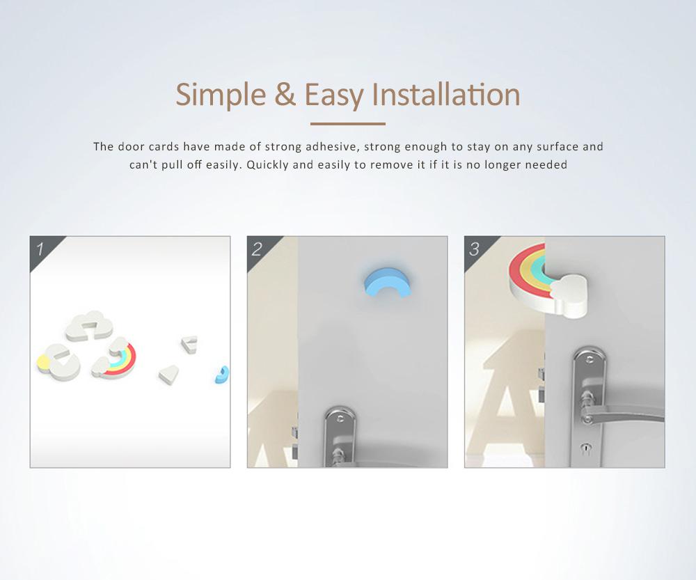 Child Safety Door Bumper Clip, Door Cards With Suspension Design For Bedrooms, Bathrooms & Kitchens 9