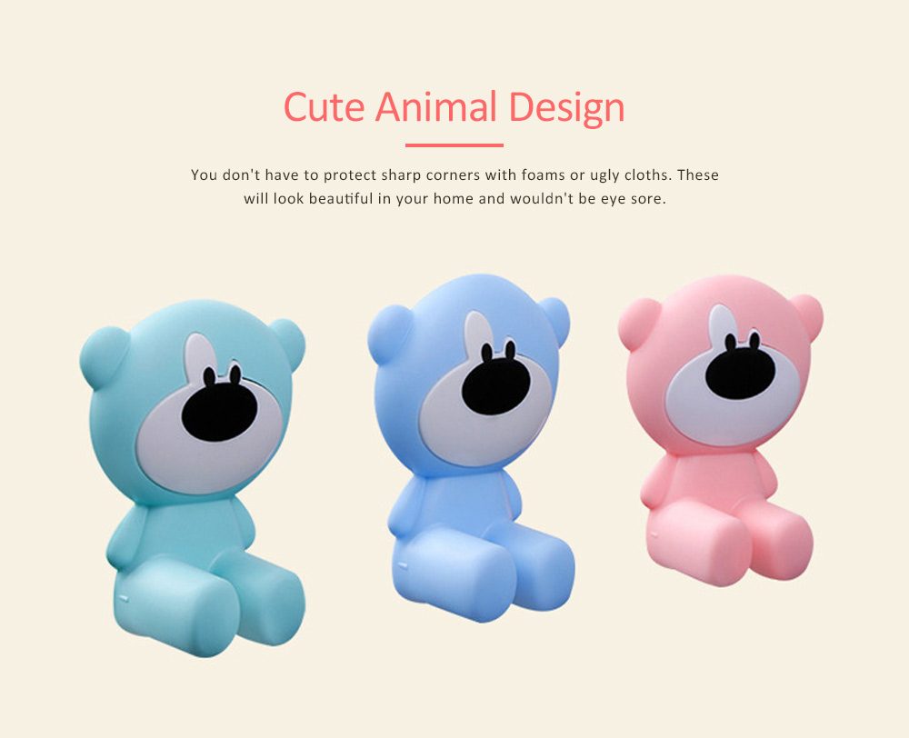 Door Stopper Baby Proof, Children's Safety Door Card with Bear Design, Anti-clamping, Anti-lock Hand Door Card 2