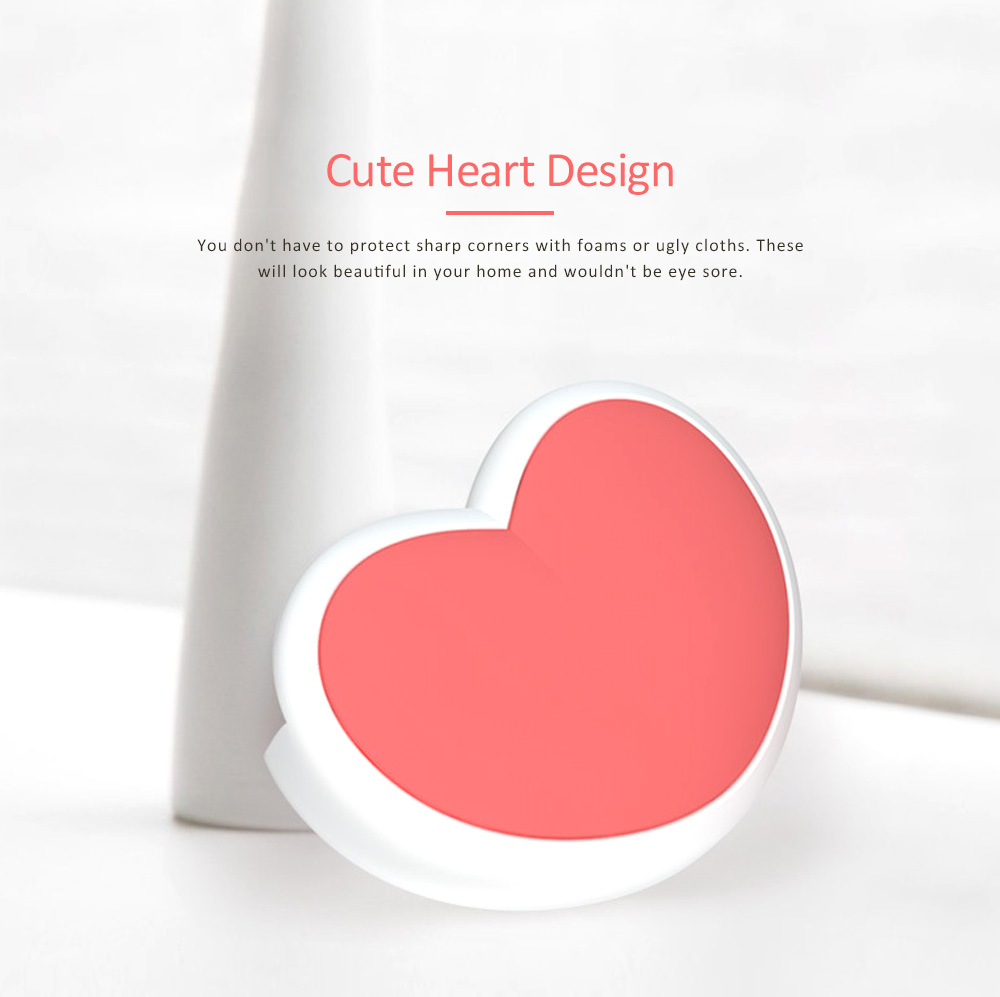 Desk Corner Thickened Protective Pad with Heart Design, Silicone Anti-collision, Shockproof Surround Pad 2