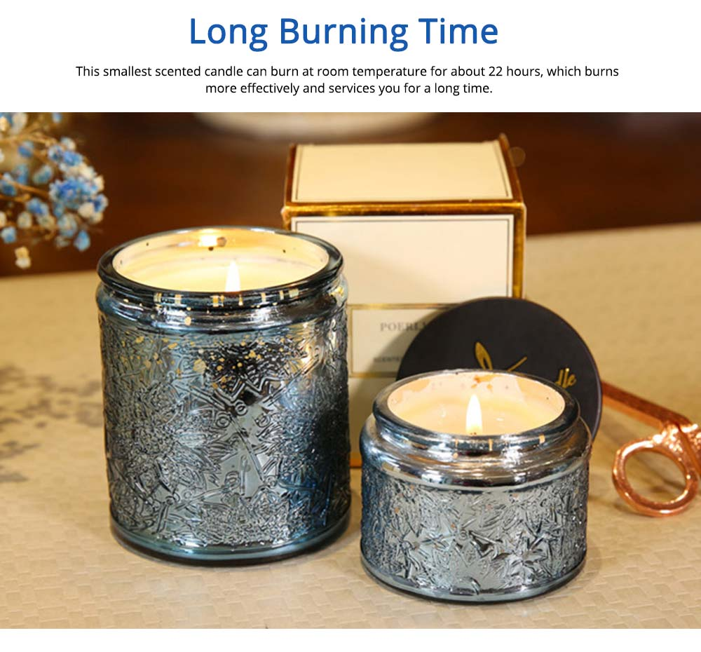 Essential Bluebell Fragrance Oil Smokeless Scented Candles, Romantic Home Decoration Soy Wax Candles Gift 9
