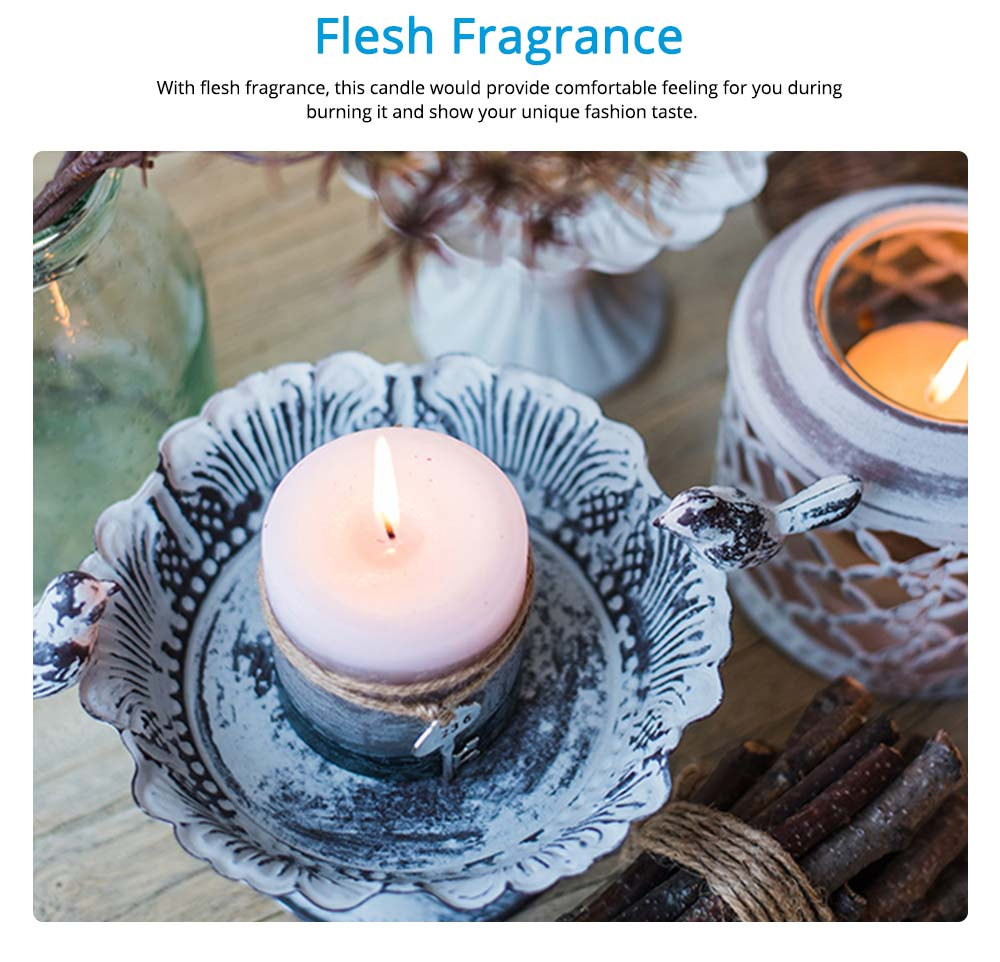 Essential Fragrance Oil Smokeless Scented Candles, Romantic Sea Shell Wedding Decoration Purify Air Candles 10