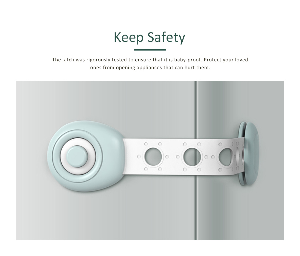 Non-toxic Refrigerator Lock for Clamping Hands Prevent and accidental Feeding, Adjustable Length Lock System for Children's Safety 5