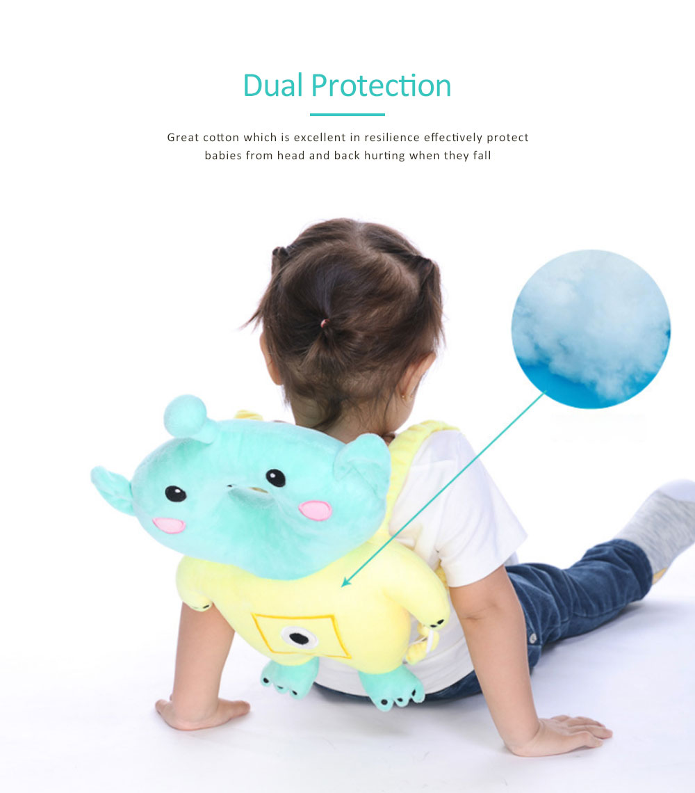 Head Pillow for Children, Safety Head Cushion with Adjustable Shoulder Strap, Suitable for Toddlers Age 5 Months-2 Ages 3