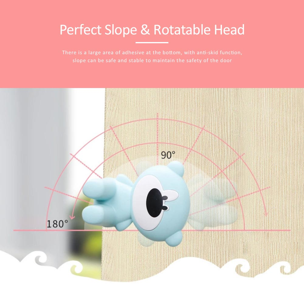 Door Stopper Baby Proof, Children's Safety Door Card with Bear Design, Anti-clamping, Anti-lock Hand Door Card 5