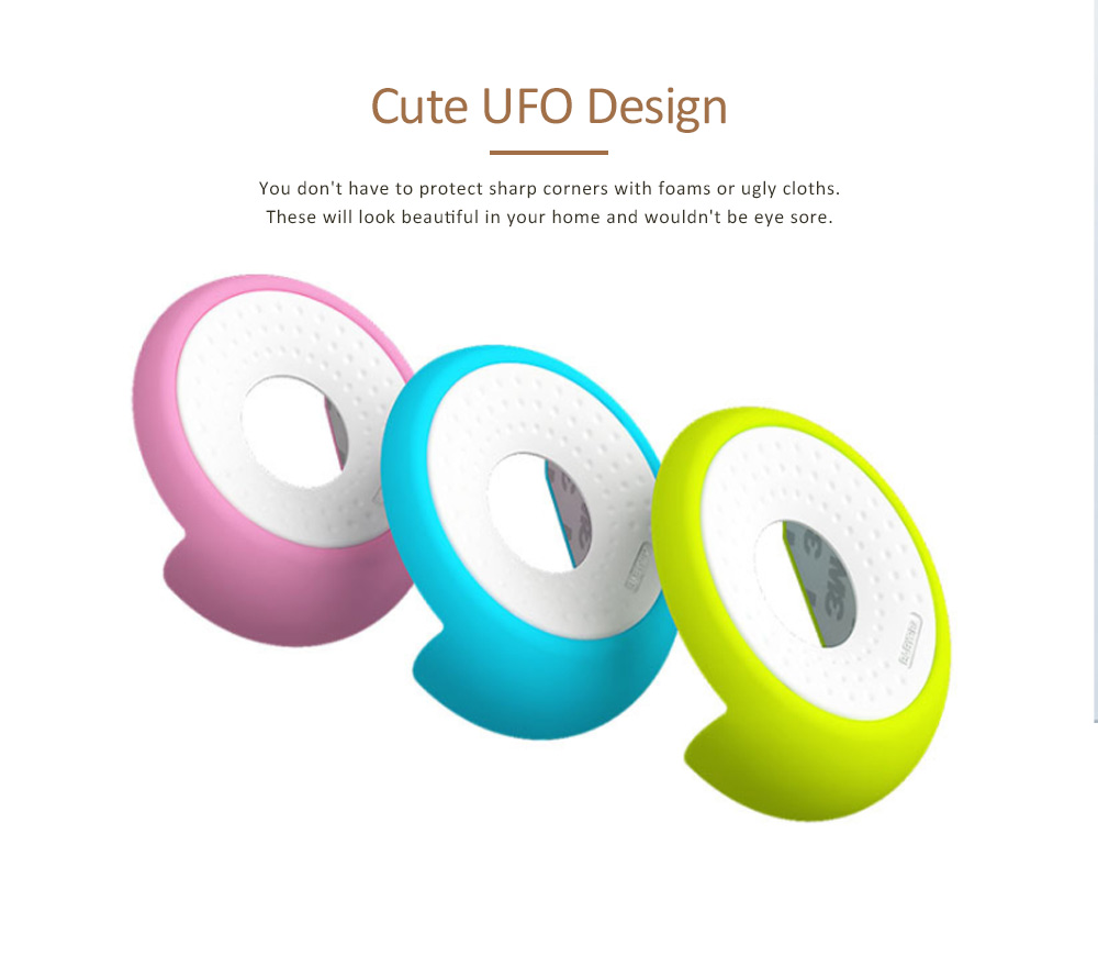 Desk Corner Protector with UFO Design, Silicone Anti-collision, Shockproof Thickened Protective Pad 2