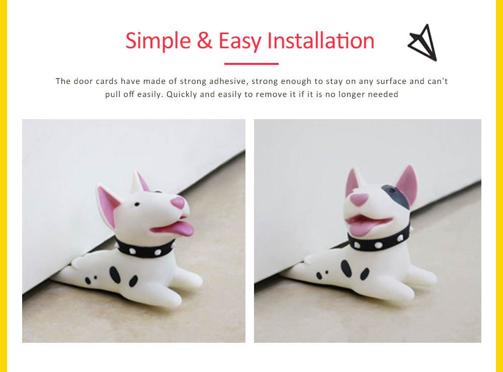 PVC Safety Door Stopper, Cute Decorative Animal Doorstop Door Wedge 4