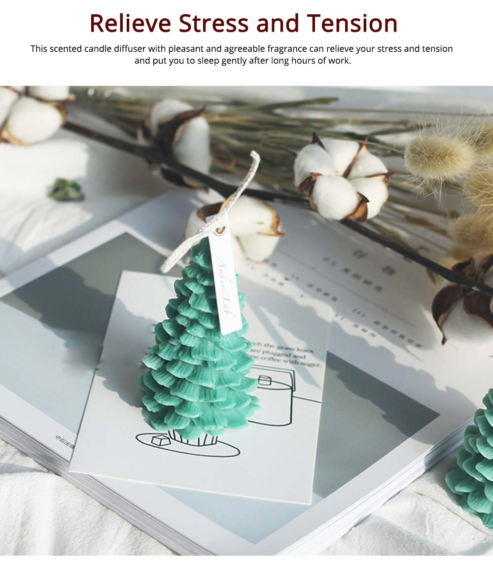 Soy Wax Candles Christmas Tree Home Decoration, Hand-made Natural Fragrance Scented Candles, Christmas Present 13
