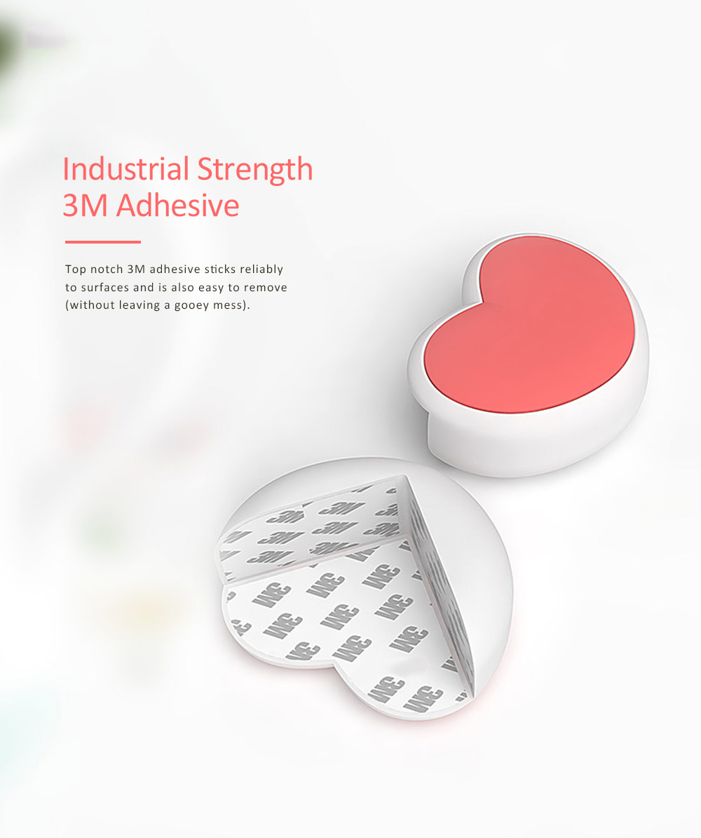 Desk Corner Thickened Protective Pad with Heart Design, Silicone Anti-collision, Shockproof Surround Pad 4
