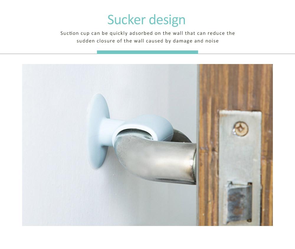 Anti-collision Door Knob Wall Protector, Shockproof Crash Door Stopper Wall Pad Silent Pad with Sucker Design 12