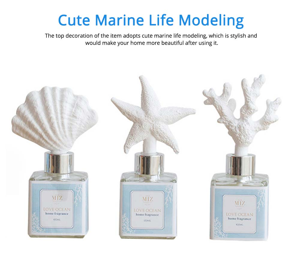 Cute Beautiful Essential Oil Aroma Reed Diffuser Decoration, Marine Life Modeling Home Living Room Romantic Healthy Spa Fragrance 4