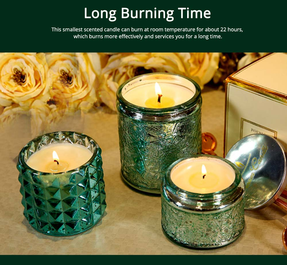 Essential Fragrance Oil Smokeless Scented Candles, British Pear Flower and Freesia Home Decoration Purify Air Candles 12