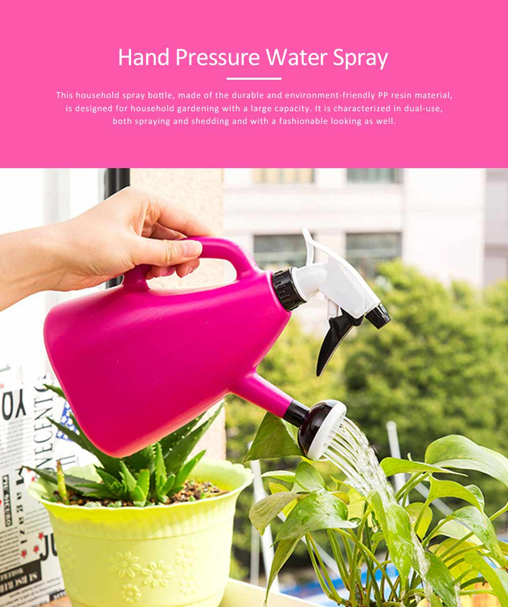 Hand Pressure Gardening Water Spray, Large Capacity Dual-purpose Spry Bottle 0