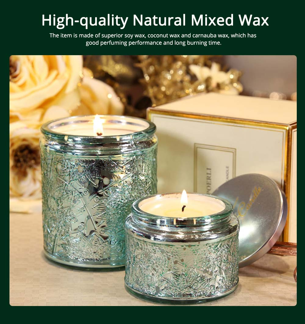 Essential Fragrance Oil Smokeless Scented Candles, British Pear Flower and Freesia Home Decoration Purify Air Candles 9