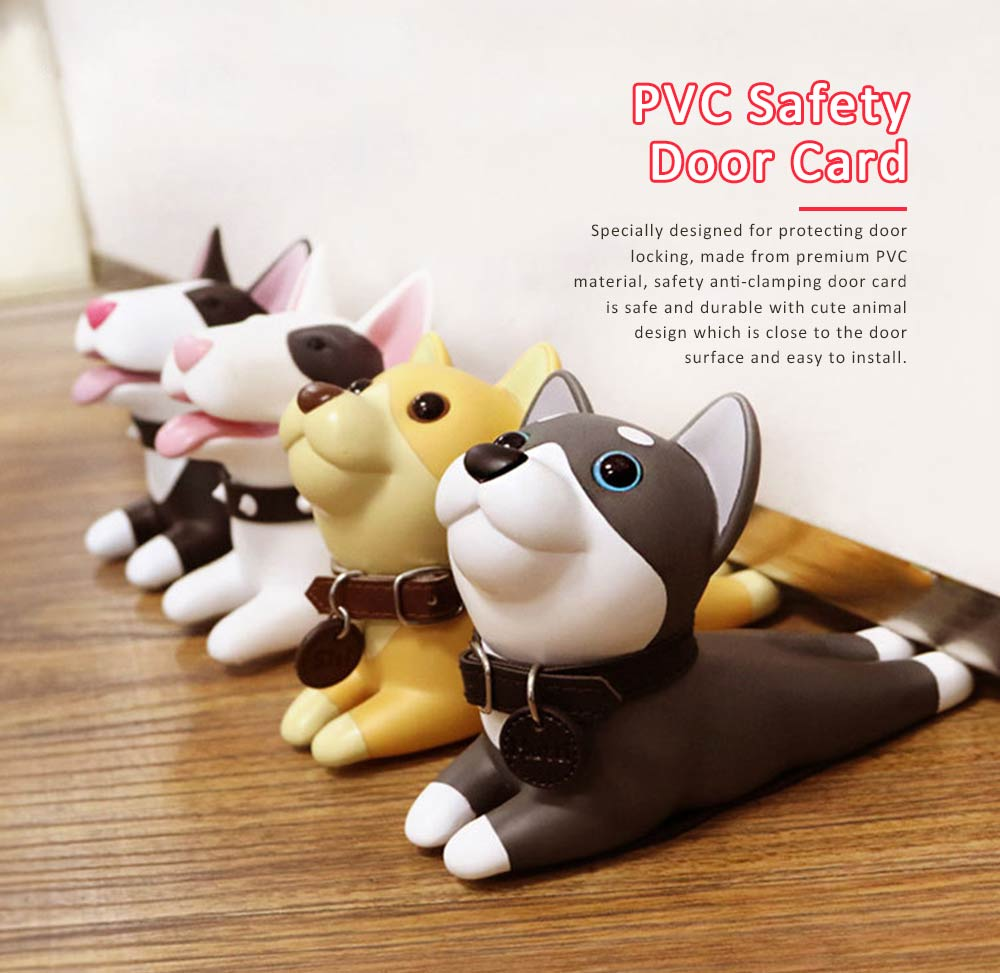 PVC Safety Door Stopper, Cute Decorative Animal Doorstop Door Wedge 0