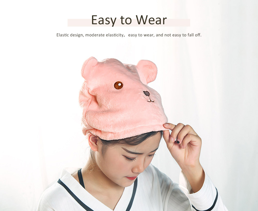 Cartoon Cute Shower Cap, Thick Absorbent Dry Hair Towel, Adult Long Hair Rub Hair Quick-drying Towel 4