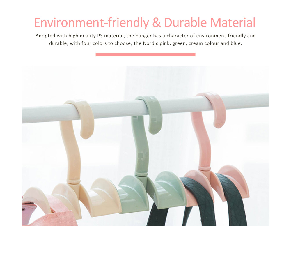 Nail-free Clothes-hook, Rotatable PS Hook Innovative Hanger for Bags, Ties, Belts 2