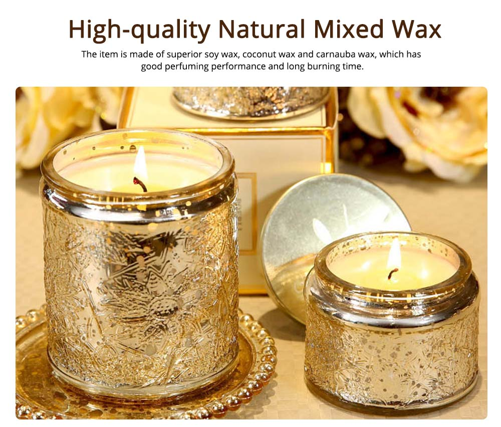 Smokeless Scented Candles - Crane Orchid and Tangerine Fragrance, Essential Oil Soy Wax Candles Gift 1