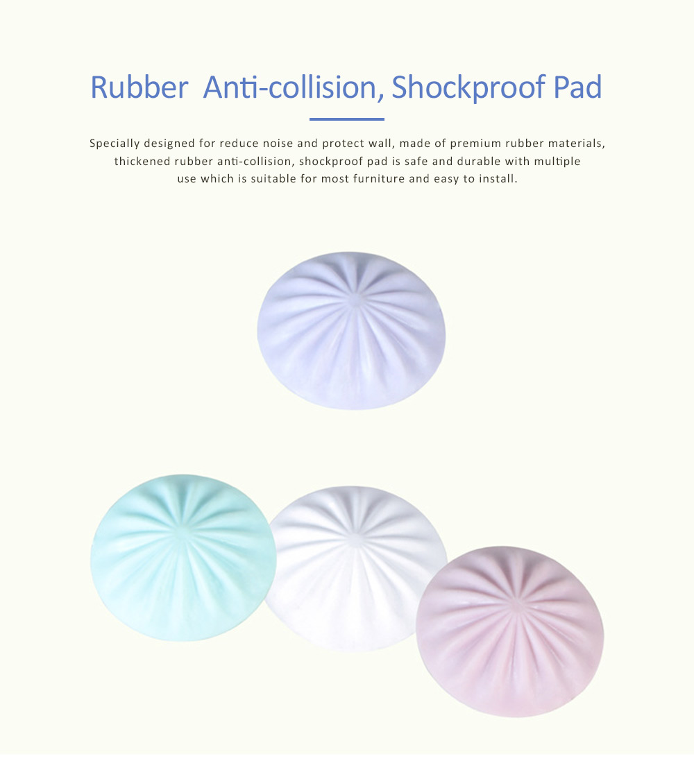Anti-bump Sticky Protective Pads for Door Handle to Keep Silent, Thickened Rubber Anti-collision Decoration Pad 0