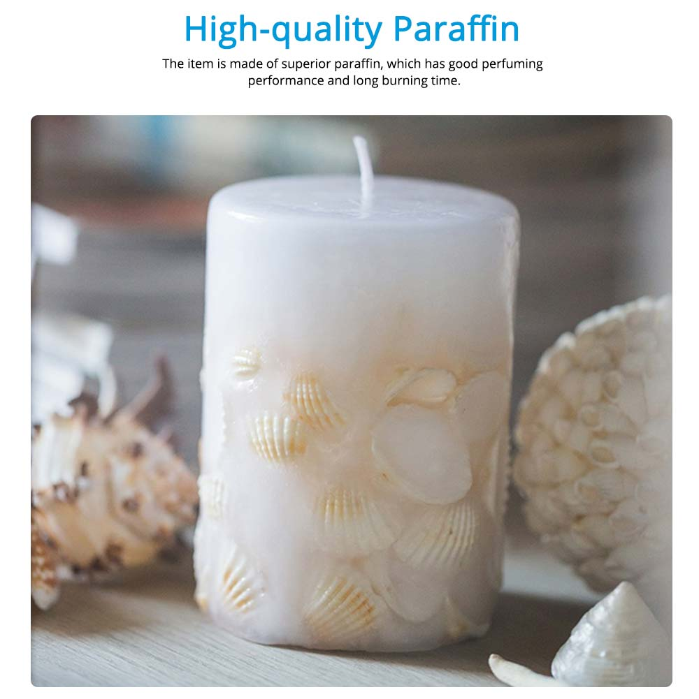 Essential Fragrance Oil Smokeless Scented Candles, Romantic Sea Shell Wedding Decoration Purify Air Candles 7