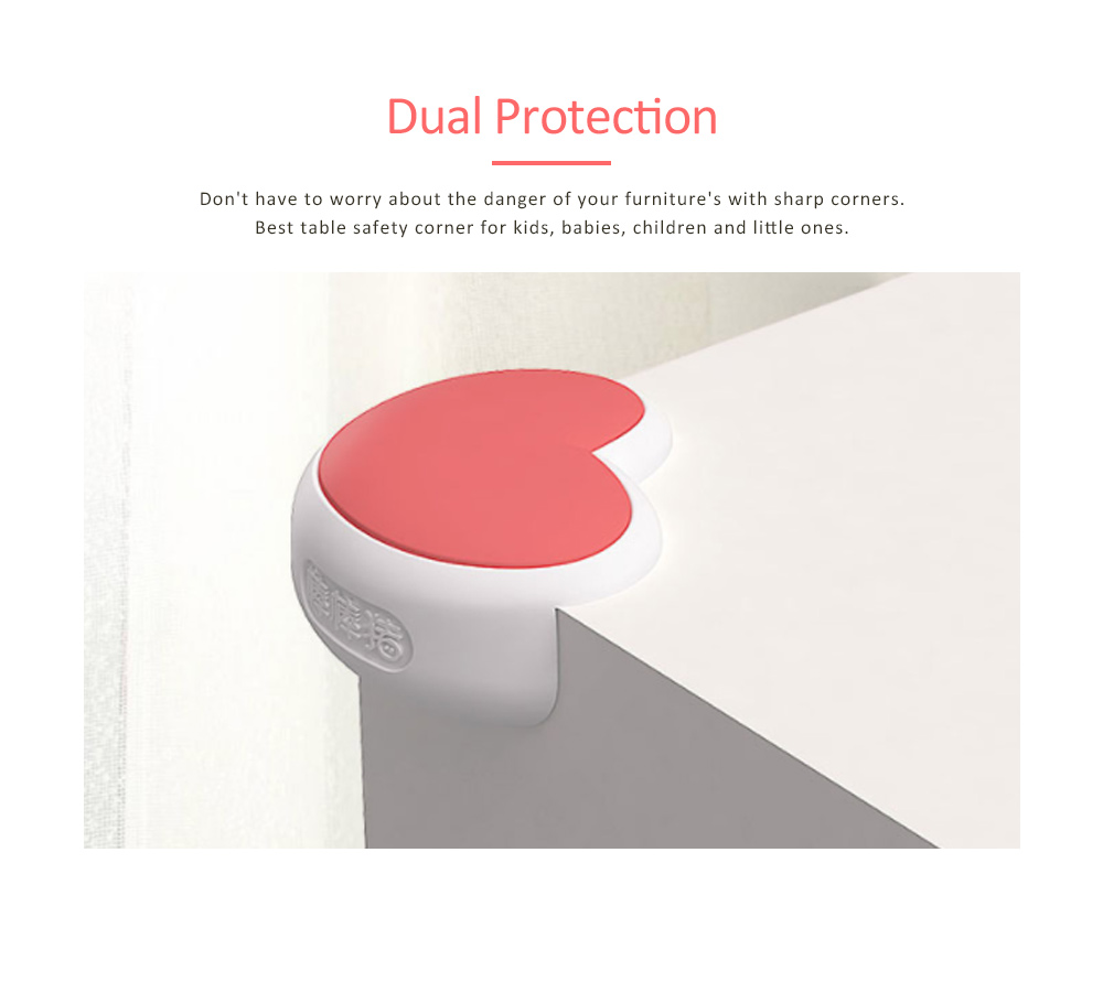 Desk Corner Thickened Protective Pad with Heart Design, Silicone Anti-collision, Shockproof Surround Pad 3