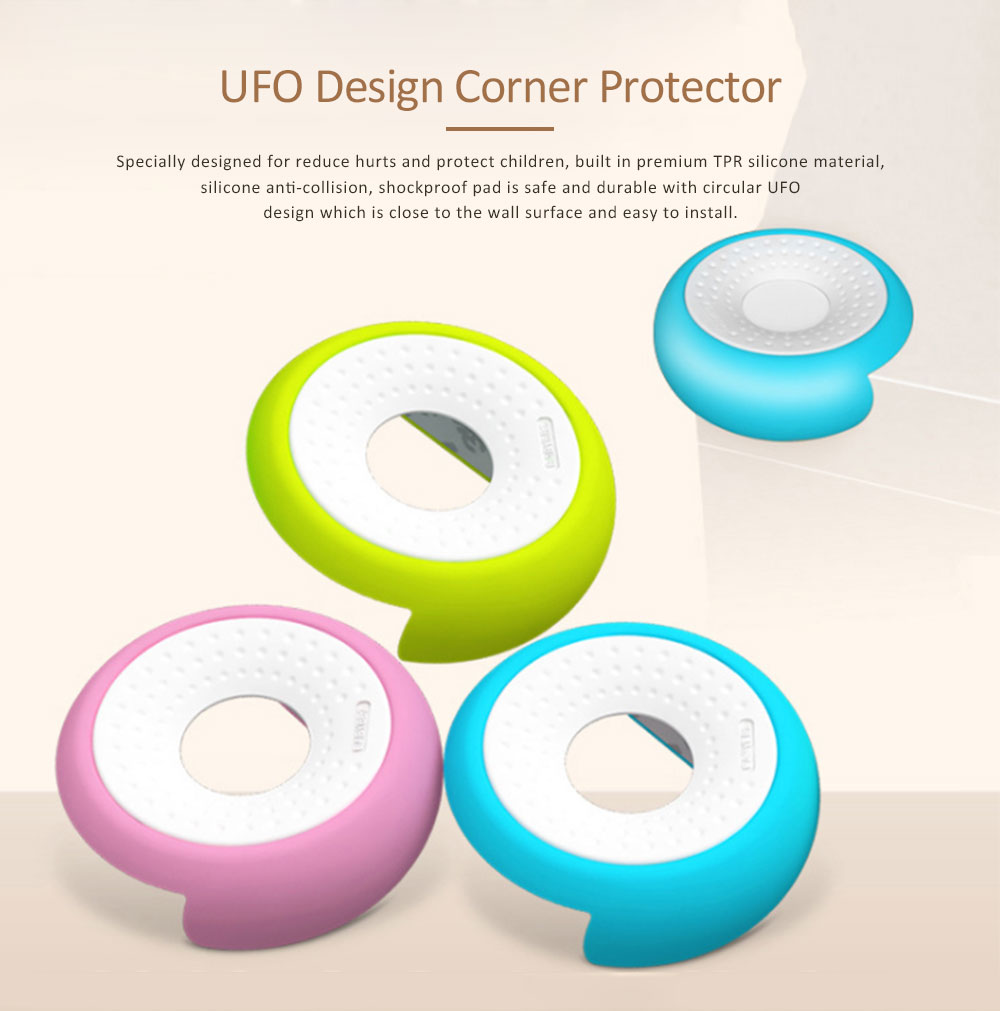 Desk Corner Protector with UFO Design, Silicone Anti-collision, Shockproof Thickened Protective Pad 0
