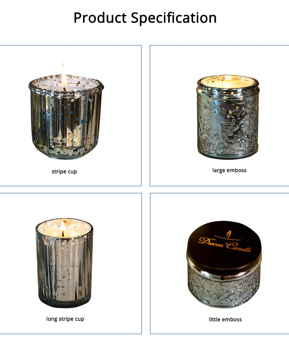 Essential Bluebell Fragrance Oil Smokeless Scented Candles, Romantic Home Decoration Soy Wax Candles Gift 12