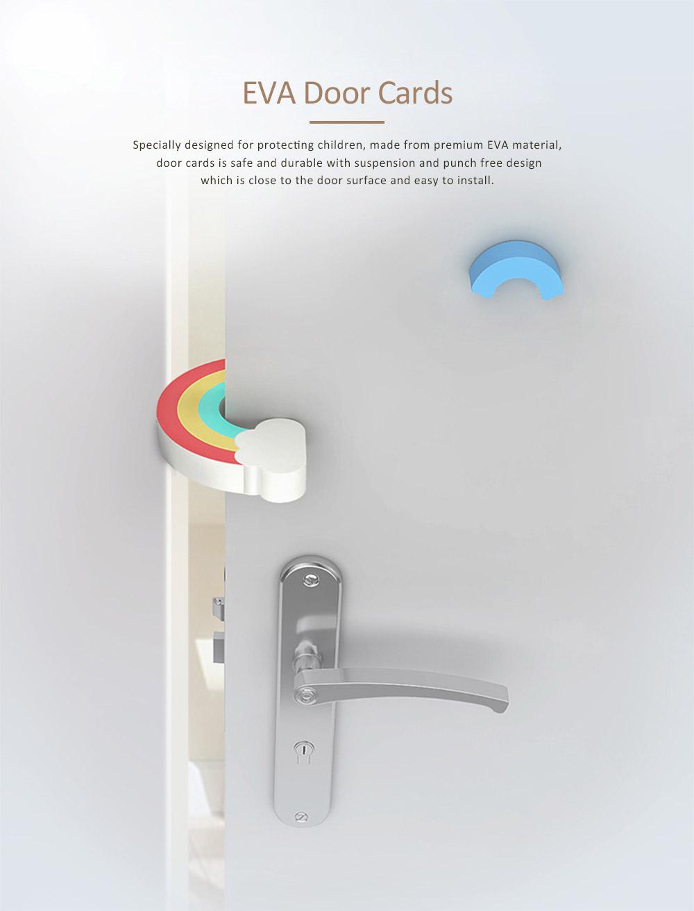 Child Safety Door Bumper Clip, Door Cards With Suspension Design For Bedrooms, Bathrooms & Kitchens 0