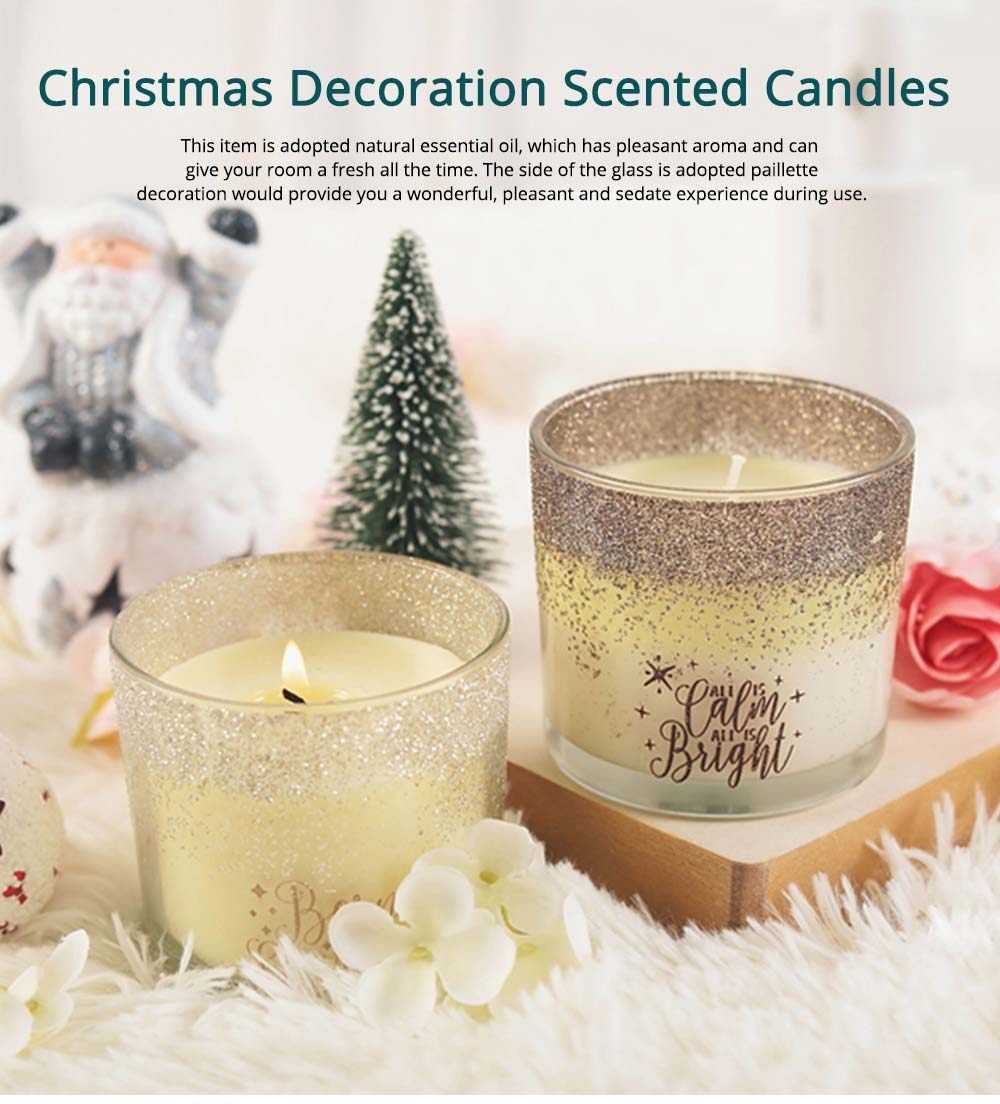 Smokeless Fragrance Scented Candles Christmas Decoration, Safety Soy Wax Essential Oil Scented Candle Gift 0