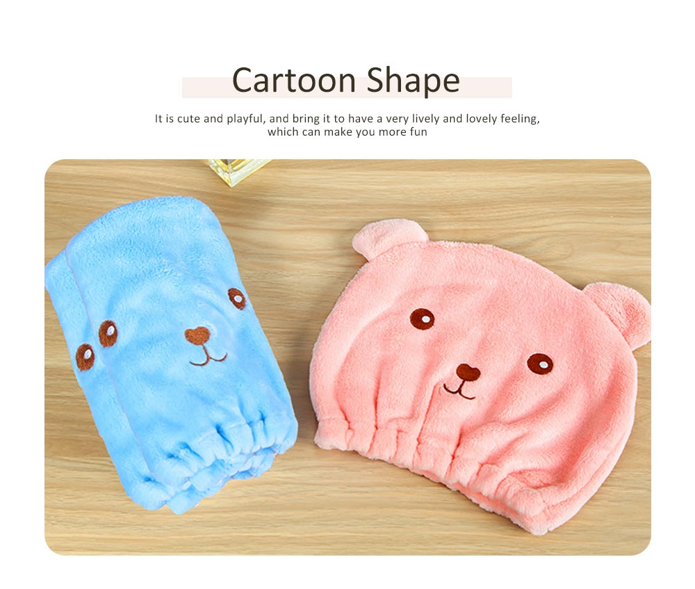 Cartoon Cute Shower Cap, Thick Absorbent Dry Hair Towel, Adult Long Hair Rub Hair Quick-drying Towel 1