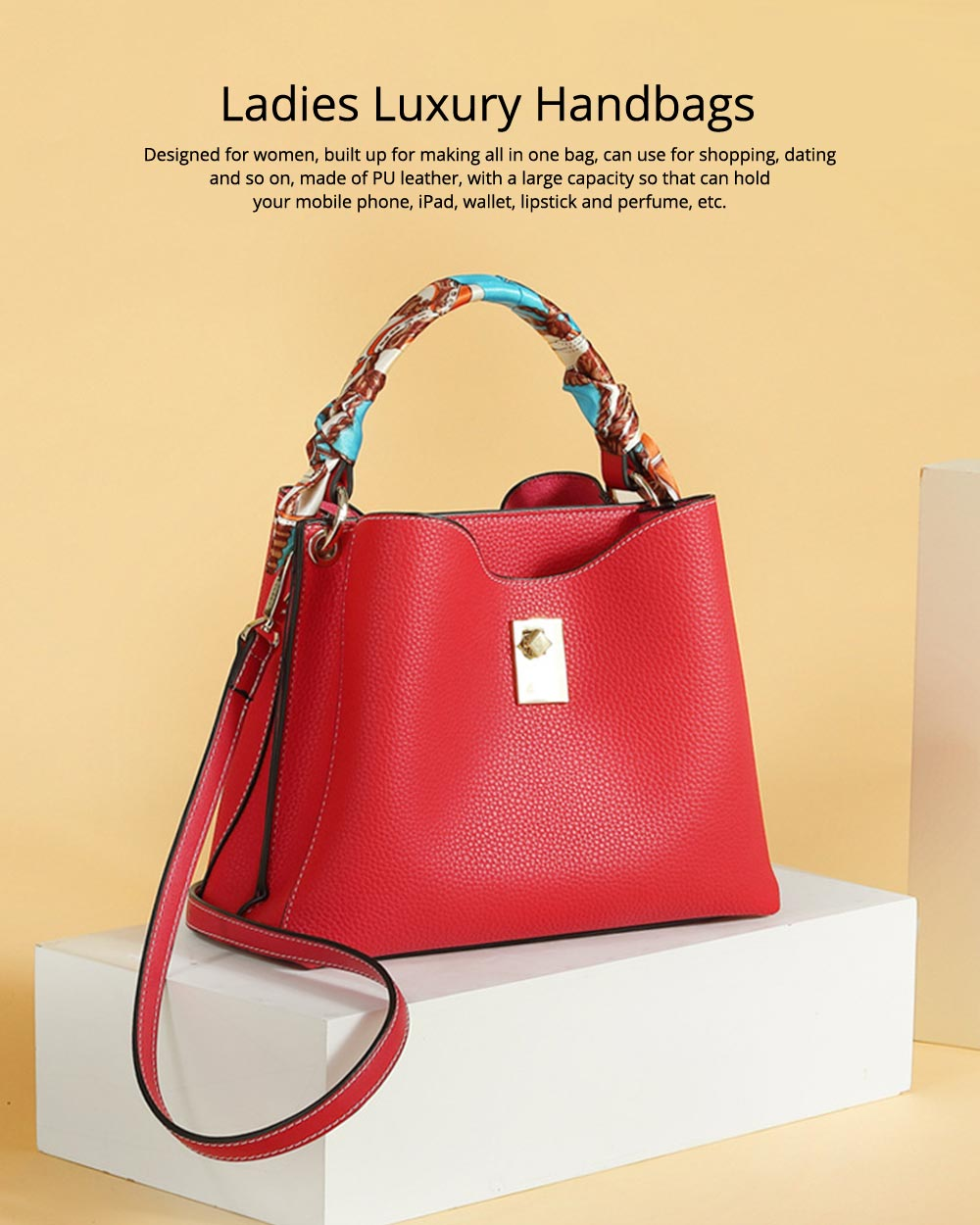Ladies Shoulder Bags, Female Cross Body Handbags, Waterproof Luxury Fashion Leather Casual Bags 8
