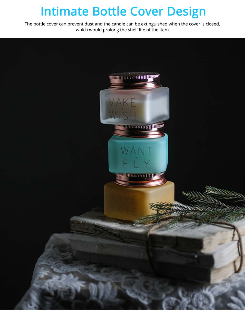 Natural Essential Oil Scented Candles with Beautiful Cosmetic Jar, Scented Candles Gift Box for Ladies Birthday Present 5