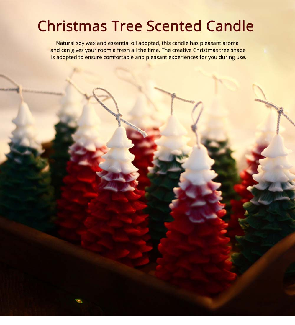 Soy Wax Candles Christmas Tree Home Decoration, Hand-made Natural Fragrance Scented Candles, Christmas Present 8