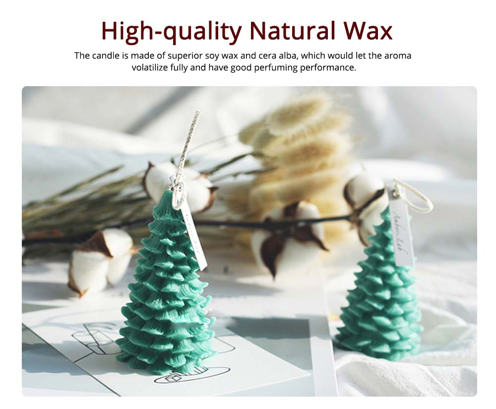 Soy Wax Candles Christmas Tree Home Decoration, Hand-made Natural Fragrance Scented Candles, Christmas Present 9