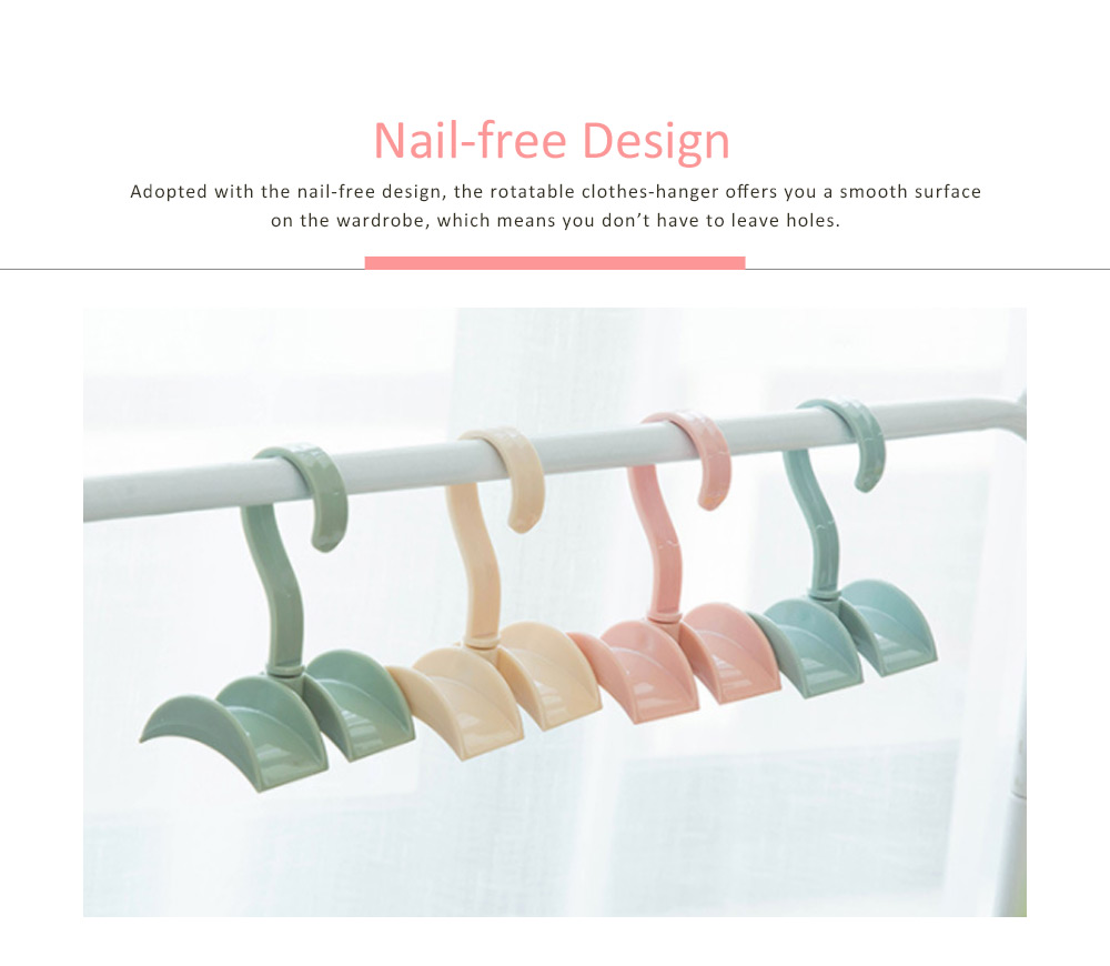 Nail-free Clothes-hook, Rotatable PS Hook Innovative Hanger for Bags, Ties, Belts 4
