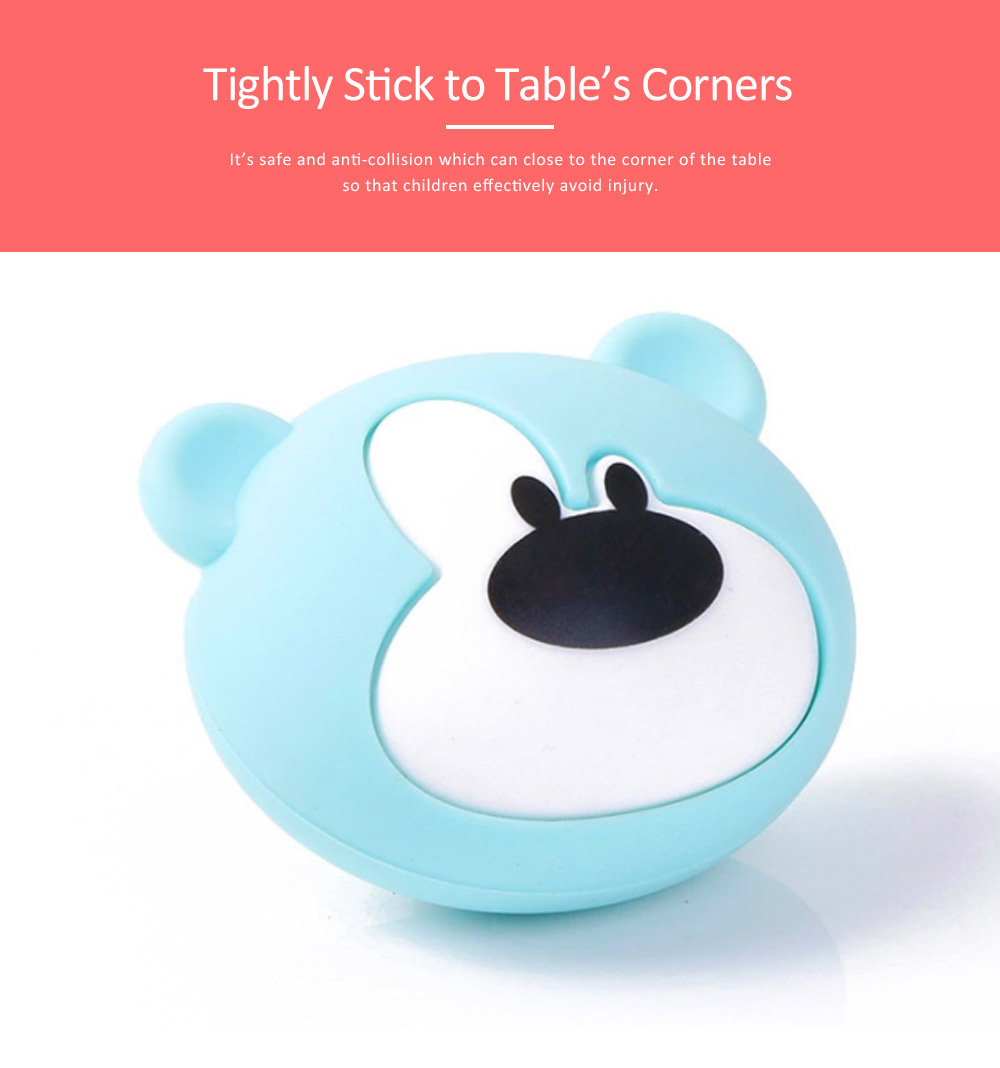 Soft Silicone Baby Corner Guards, 3M Adhesive Desk Protective Cover, Cartoon Bear Shape Desk Edge Cushion 3
