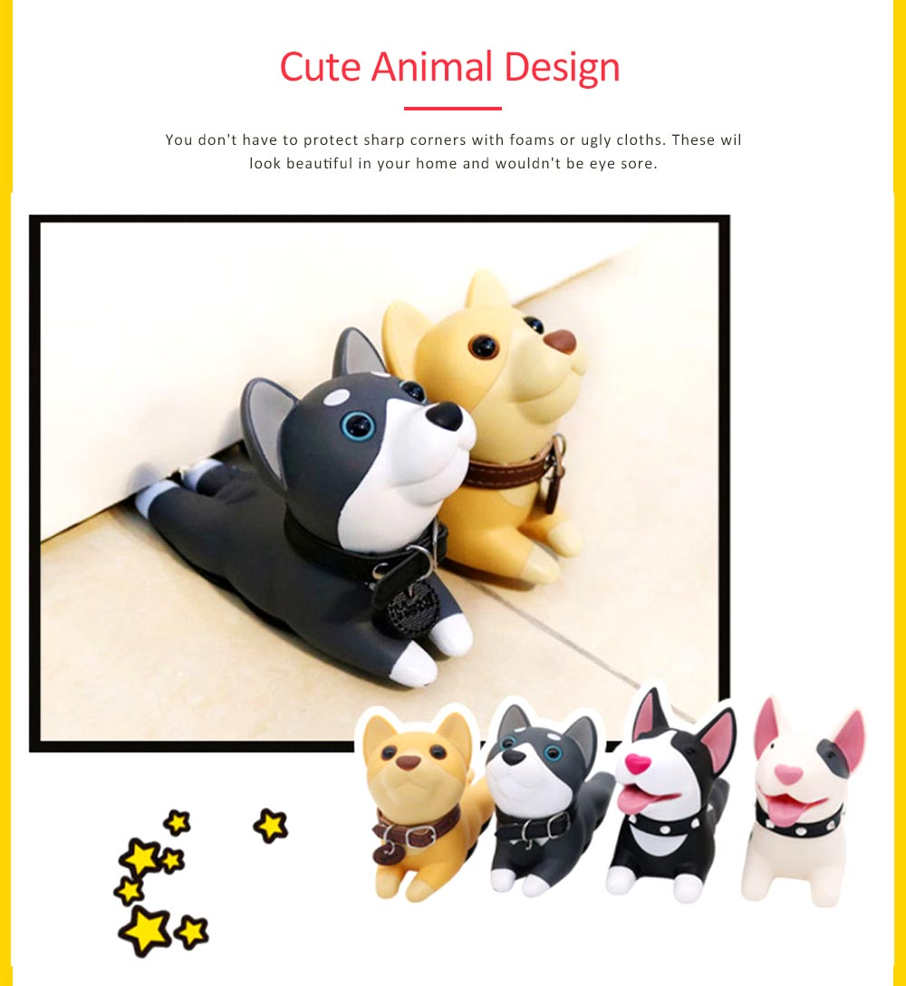 PVC Safety Door Stopper, Cute Decorative Animal Doorstop Door Wedge 2