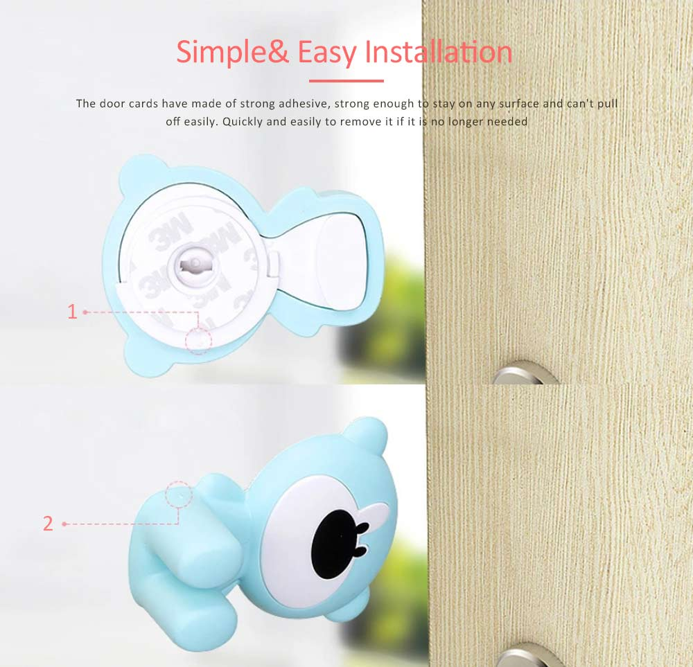 Door Stopper Baby Proof, Children's Safety Door Card with Bear Design, Anti-clamping, Anti-lock Hand Door Card 4
