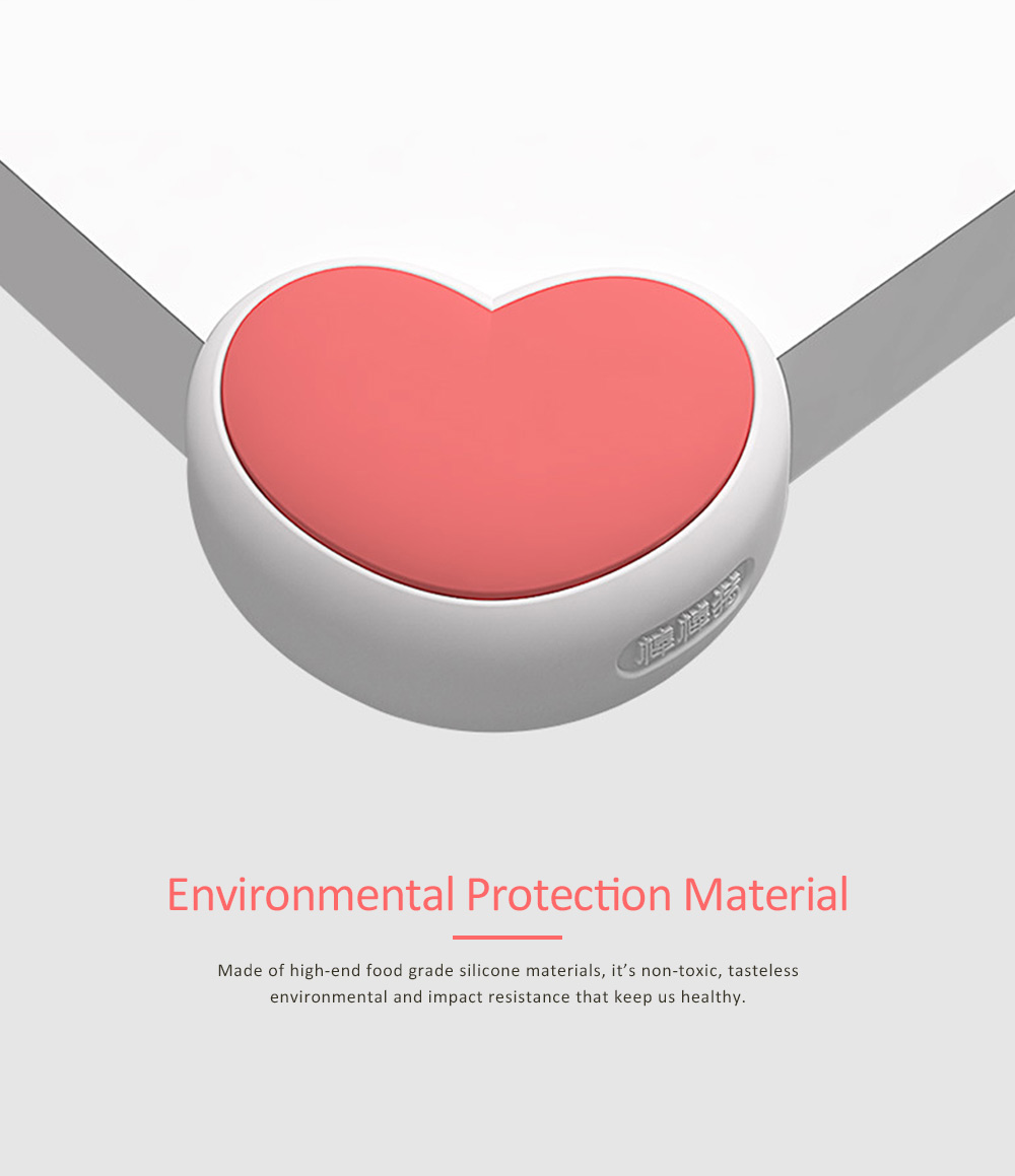 Desk Corner Thickened Protective Pad with Heart Design, Silicone Anti-collision, Shockproof Surround Pad 8