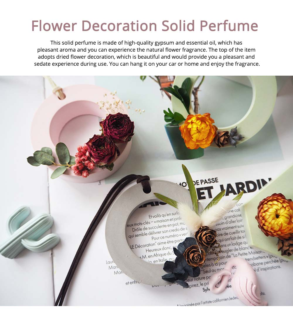 Preserved Fresh Flower Decoration Solid Gypsum Perfume, Car Home Pendant Widget Hand-made Fragrance Diffuser Stone 0