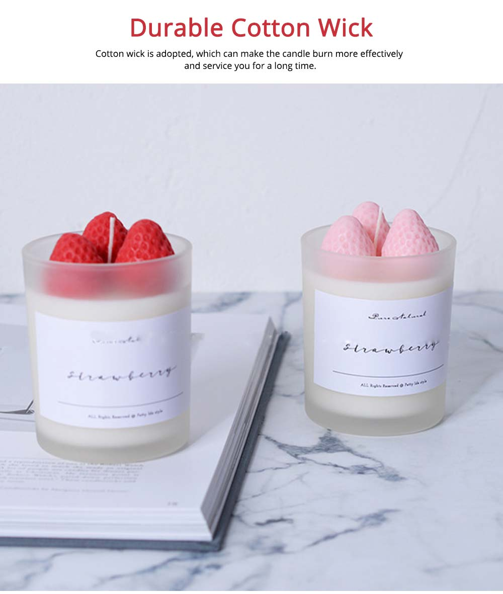 Sweet Strawberry Scented Candles, Home Decoration Furnishings Gift for Friends 5