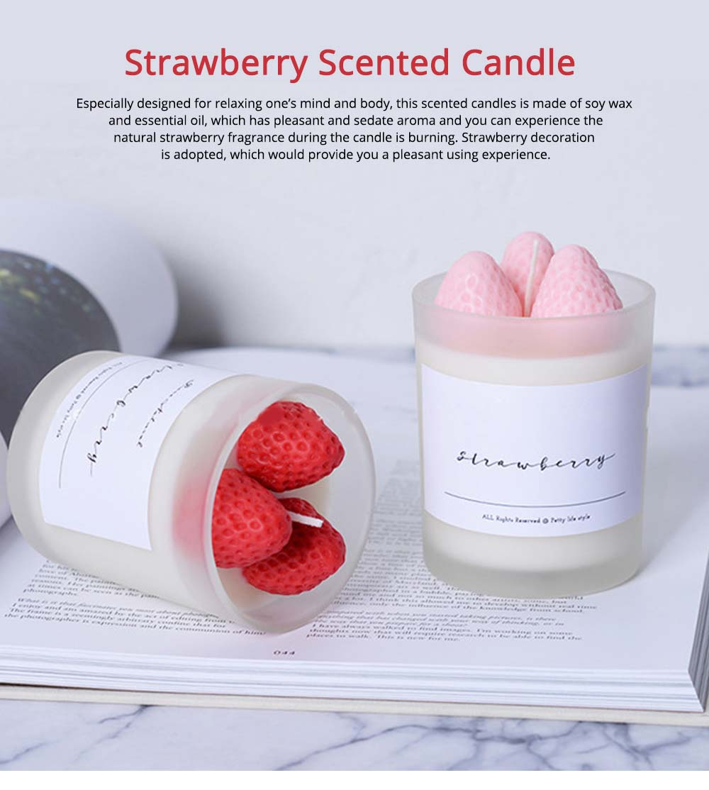 Sweet Strawberry Scented Candles, Home Decoration Furnishings Gift for Friends 0