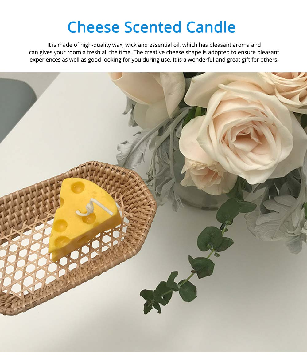 Hand-made Scented Candles, Creative Cheese Shaped, Bluebell Fragrance Home Bedroom Living Room Decoration Candle 0