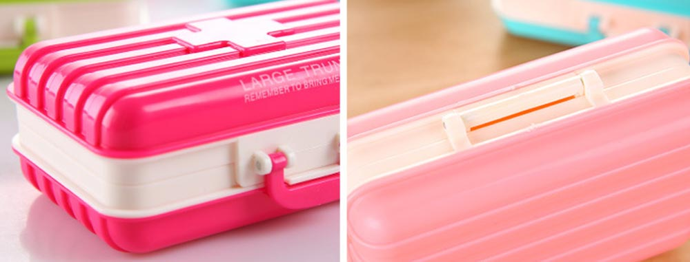 Creative Luggage Modeling Mini Pill Case, Jewelry Storage Box 6 Slots Multifunctional Organizer for Ladies 9