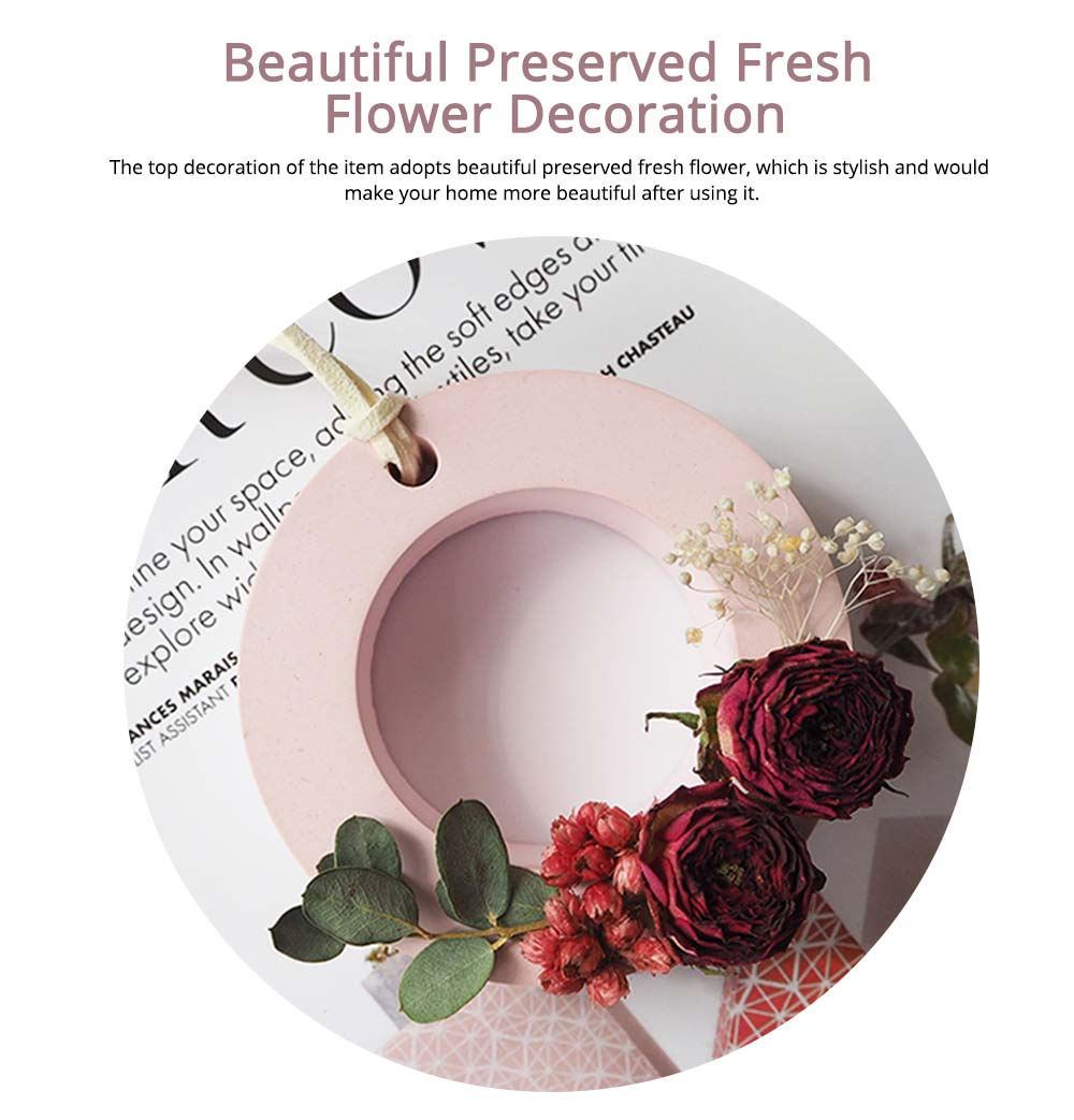Preserved Fresh Flower Decoration Solid Gypsum Perfume, Car Home Pendant Widget Hand-made Fragrance Diffuser Stone 3