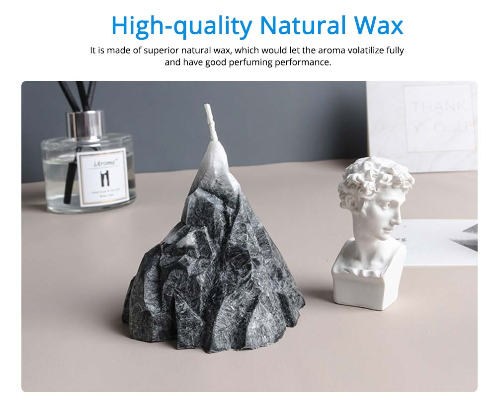 Secure Smokeless Scented Candles, Fresh Floral Fragrance Quiet the Spirit Home Decoration Candle, Creative Imitation Rock Shape 1