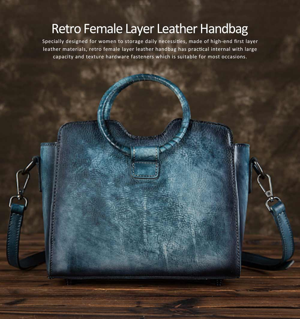 Retro Female Leather Handbag With Hardware Fasteners, Fashion Diagonal Cross Solid Color Lady Wing Bag 0